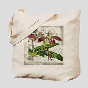 vintage french botanical orchid Tote Bag