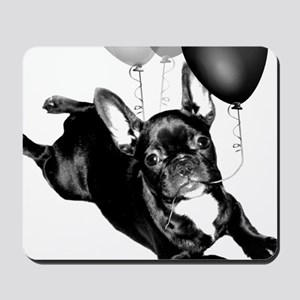 Party French bulldog Mousepad