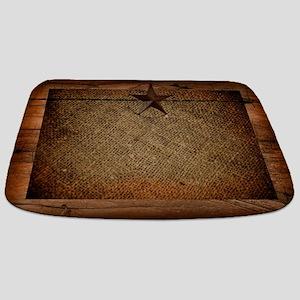 burlap barn wood texas star  Bathmat