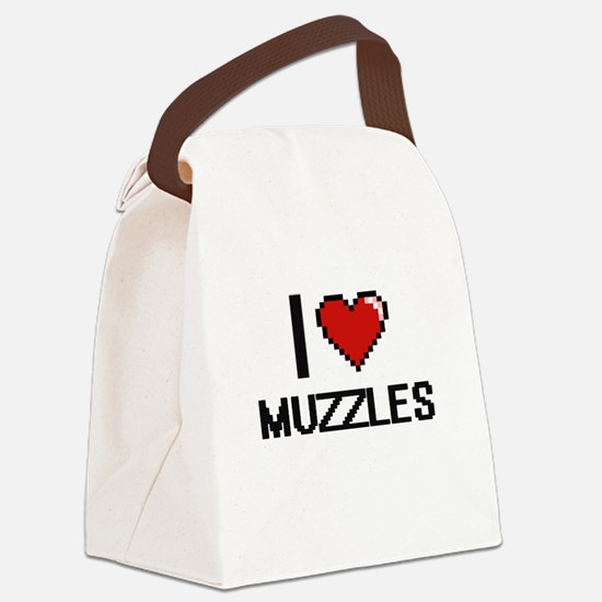 I Love Muzzles Canvas Lunch Bag