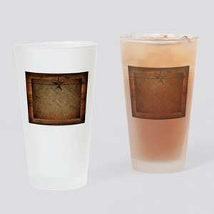 burlap barn wood texas star Drinking Glass