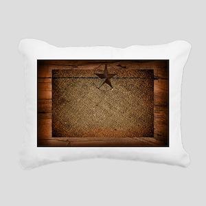 burlap barn wood texas s Rectangular Canvas Pillow