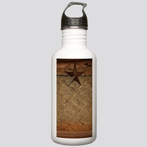 burlap barn wood texas Stainless Water Bottle 1.0L