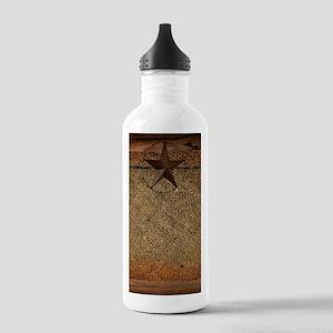 burlap barn wood texas Stainless Water Bottle 1.0L
