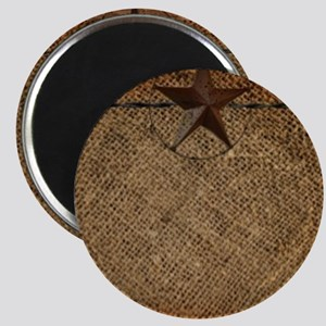 burlap barn wood texas star Magnets