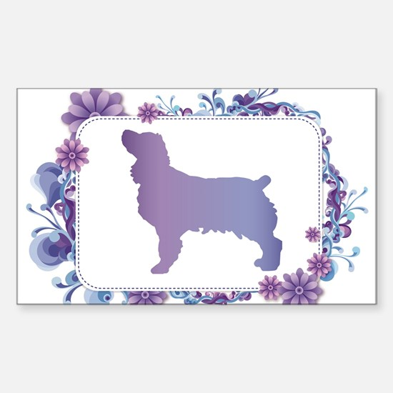 Periwinkle Blue Floral Boykin Decal