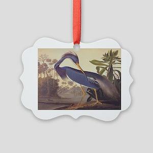 Louisiana Heron Picture Ornament