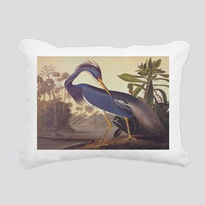Louisiana Heron Rectangular Canvas Pillow