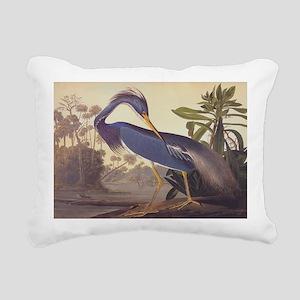 Louisiana Heron Rectangular Canvas Pillow