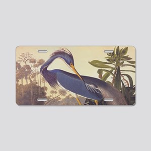 Louisiana Heron Aluminum License Plate
