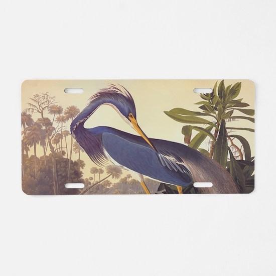 Louisiana Heron Aluminum License Plate