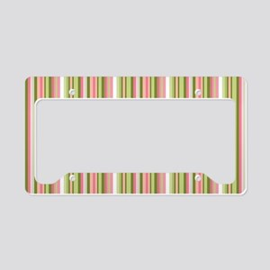 Spring Stripes License Plate Holder