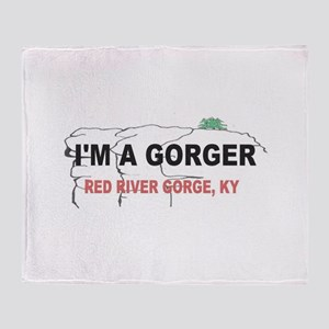 I'm A Gorger Throw Blanket
