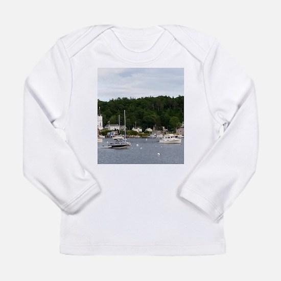 Boothbay Harbor Waterfront Boa Long Sleeve T-Shirt