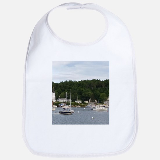 Boothbay Harbor Waterfront Boats Bib
