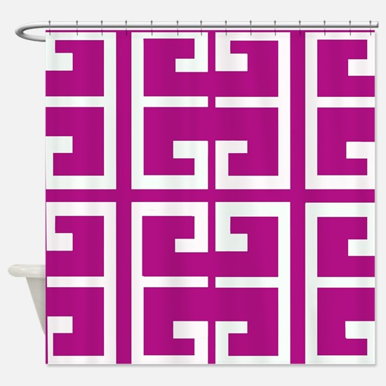Roman Magenta Tiles Shower Curtain
