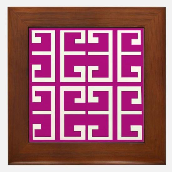 Roman Magenta Tiles Framed Tile