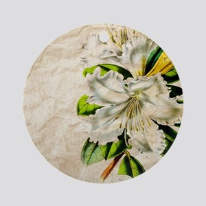 french botanical white lily Round Ornament