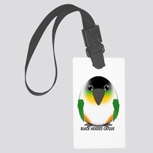 Black Headed Caique Large Luggage Tag
