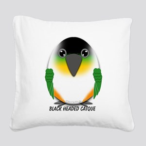 Black Headed Caique Square Canvas Pillow