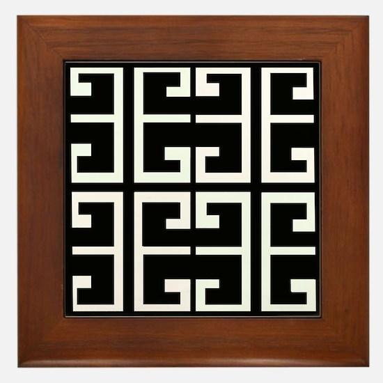 Black and White Tile Framed Tile