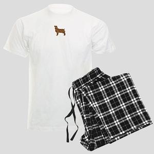 Brown Dog Fall Men's Light Pajamas