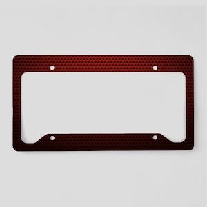 Red Metallic Texture License Plate Holder