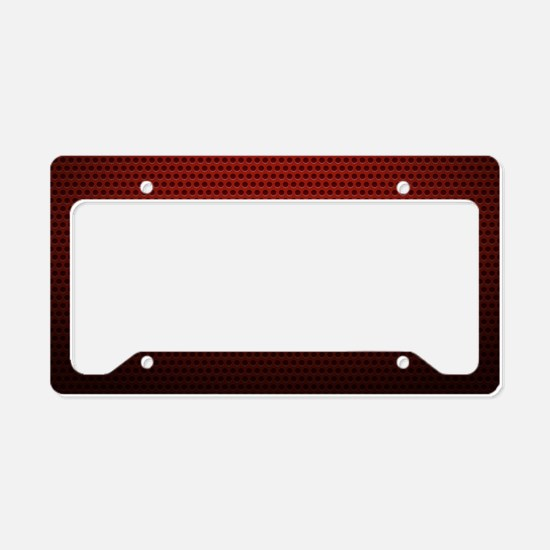 Red Metallic Texture License Plate Holder