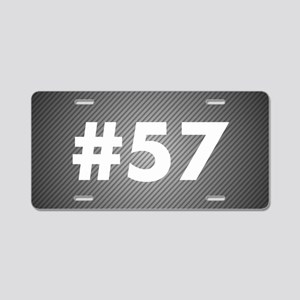 Custom Carbon Number Aluminum License Plate