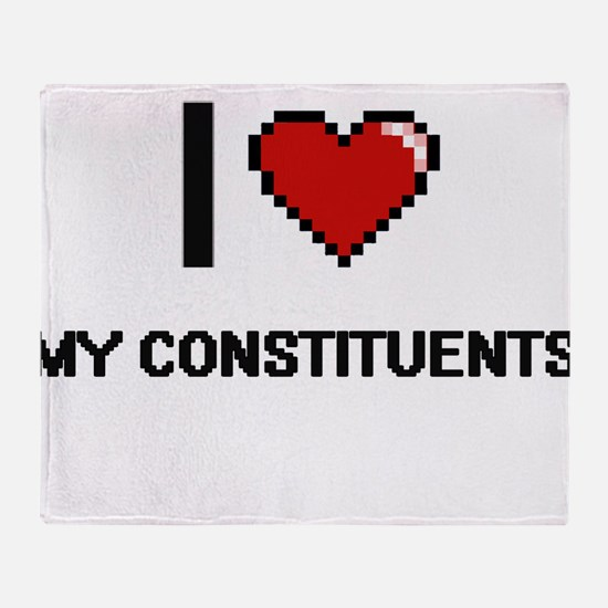 I love My Constituents Throw Blanket