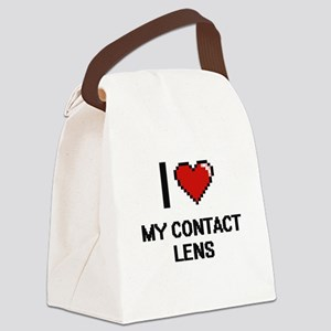 I love My Contact Lens Canvas Lunch Bag