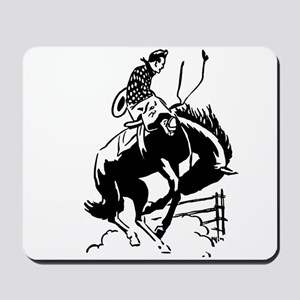 cowboy bucking horse Mousepad