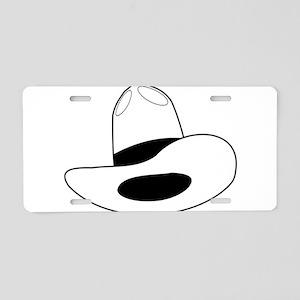 cowboy hat - outline Aluminum License Plate