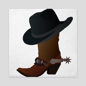 boot- black hat Queen Duvet