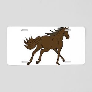 Horse Running Away Aluminum License Plate