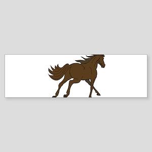 Horse Running Away Bumper Sticker