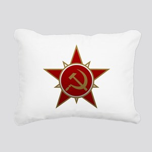 Hammer and Sickle Rectangular Canvas Pillow