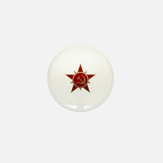 Hammer and Sickle Mini Button