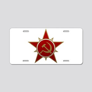 Hammer and Sickle Aluminum License Plate