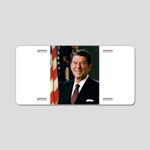 Ronald Reagan Aluminum License Plate