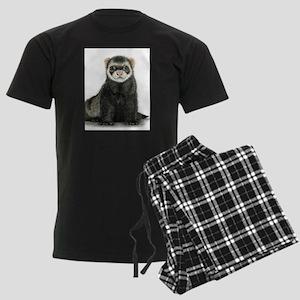 High detail ferret design Men's Dark Pajamas