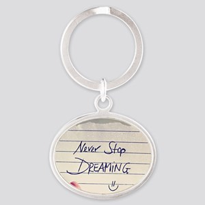 Dreaming Oval Keychain