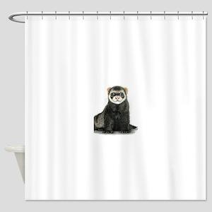 High detail ferret design Shower Curtain