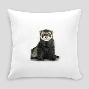 High detail ferret design Everyday Pillow