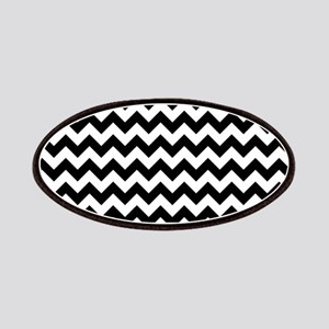 Black and White Simple Chevron Patch