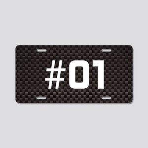 Custom Racing Number Aluminum License Plate