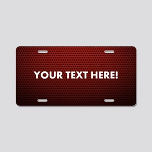 Custom Red Aluminum License Plate