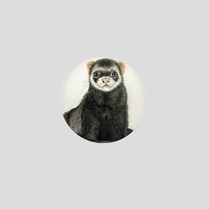 High detail ferret design Mini Button