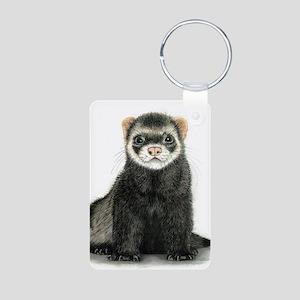 High detail ferret design Keychains