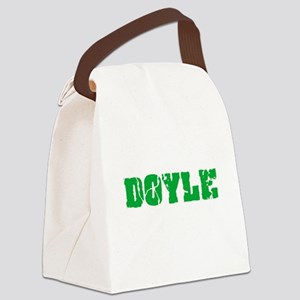 Doyle Name Weathered Green Design Canvas Lunch Bag